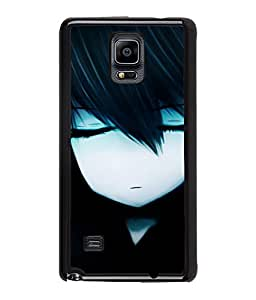 Fuson Sad Girl Back Case Cover for SAMSUNG GALAXY NOTE 4 - D3876
