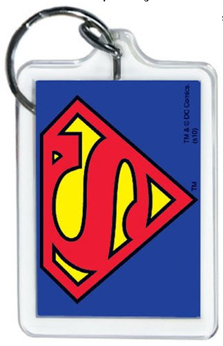 Licenses Products DC Comics Originals Superman Logo Lucite Keychain - 1