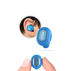 Mini Wireless Bluetooth Headset QCY Q26 earbud V4.1 Earphone Stereo with Mic for Driving Office Meeting iPhone Xiaomi Asus Sony Headphone for Bluetooth based Smart Devices(Blue)