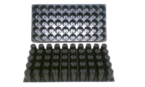 "10 Plastic Seed Starting Trays - Each Tray Has 50 Cells ~ Cells Are 1 7/8"" Round X 2 3/8"" Deep. Great Propagation Trays"