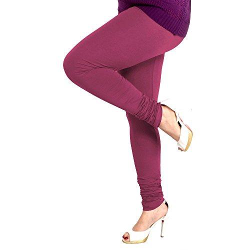 Lux Women Cotton Leggings -Pure Purple-L 63 -Free Size