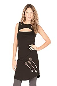 Arrow Tear Drop Tunic M in Black