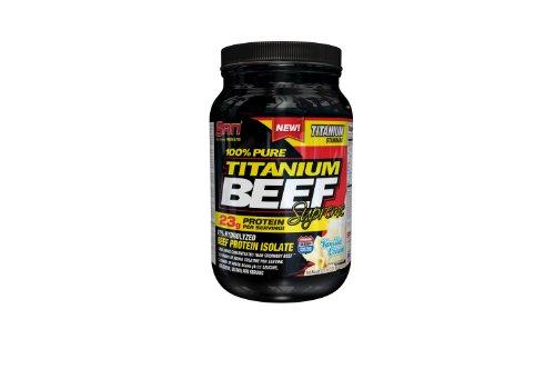 San 100% Pure Titanium Beef Supreme Supplement, Vanilla Creme, 2 Pound