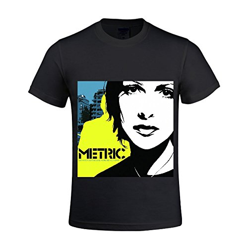 Metric-Old-World-Underground-Where-Are-You-Now-Men-Shirts-Round-Neck-100-Cotton