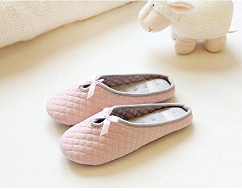 HH Inverno cotone traspirante mute pantofole pantofole Pantofole . pink . 36-37
