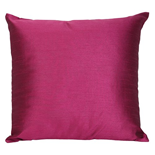 set-of-2-wine-art-silk-pillow-covers-plain-silk-cushion-cover-solid-color-wine-throw-pillow-18x18-in