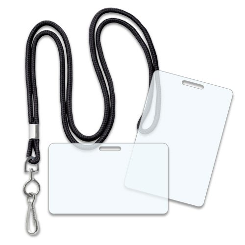 Badge Kit - Round Lanyards + 10 Mil Military