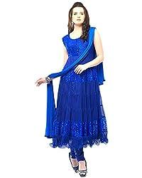 blue braso net Dress materials (H115-02_blue_Free size)