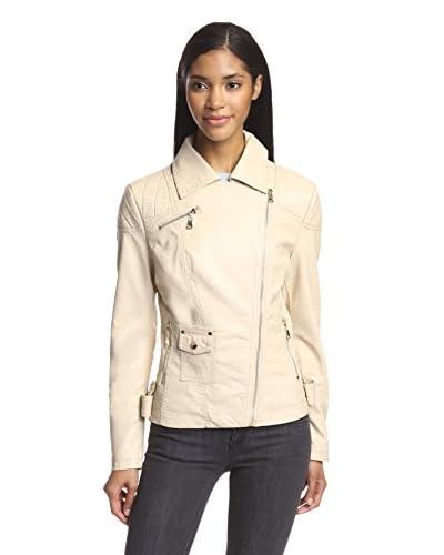 Love Token Women's Chip Faux Leather Jacket  [Shell]