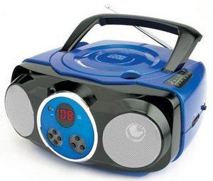 Naxa NX-233 Portable CD Player with AM/FM Stereo Radio- Blue