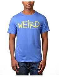 Kuroki Weird- Mens Blue Colour Round Neck Tshirts