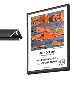 Cadre alu poster brushed 60x80 cm noir matt cadre pour photo - Cadre photo 60x80 ...