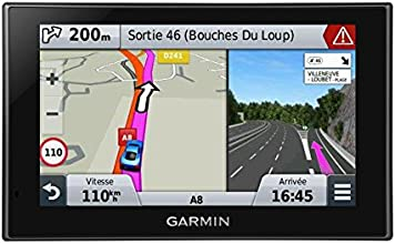 Garmin Nüvi 2589 LMT - GPS Auto écran 5 pouces - Appel mains libres et commande vocale - Info Trafic et carte (45 pays) gratuits à vie