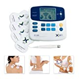 Tens Electric Pulse Massager Unit Excellent Muscle Stimulator & Massage Pain Relief - Battery Powered,Free additional two Pairs of electrode pads(8 pads included)