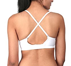 BODYCARE Cross Afair Seamfree Daily Wear Bra ( Bodycare-5551_4_White_36 B)