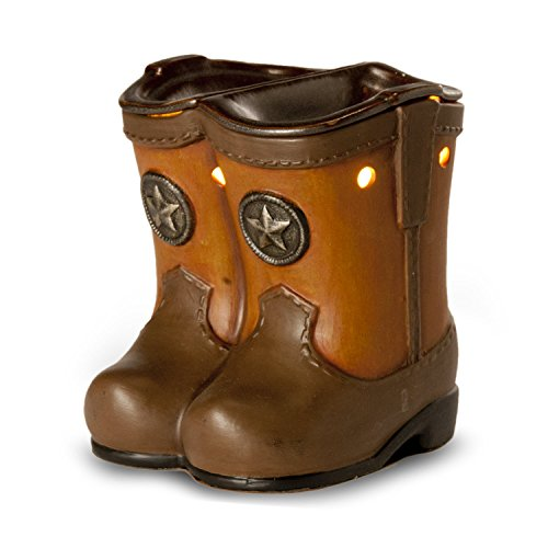 Western Cowboy Boots Scented Candle Wax Warmer This