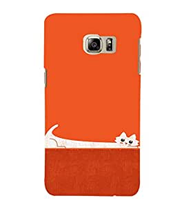 EPICCASE Stretchy cat Mobile Back Case Cover For Samsung Galaxy Note 5 Edge (Designer Case)