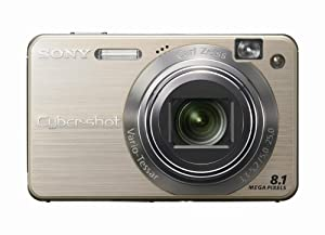 Sony Cybershot DSCW150/G 8.1MP Digital Camera with 5x Optical Zoom with Super Steady Shot (Gold)