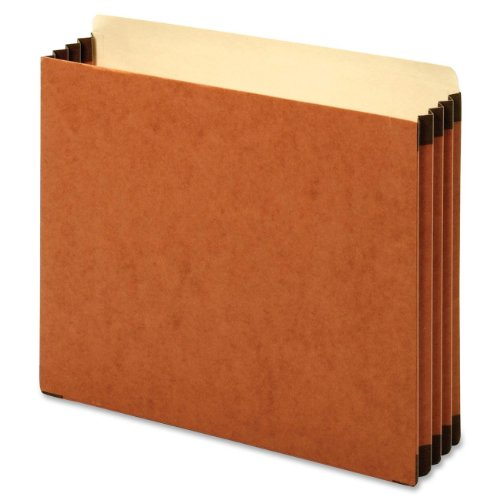 Globe-Weis Heavy-duty Accordion File Pocket -Letter -8.50-Inch x11-Inch -3.50-Inch Expansion -22 pt. -Brown -10/Box