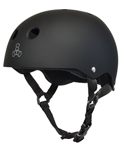 Triple Eight Brainsaver Helmet, Black Rubber, Large