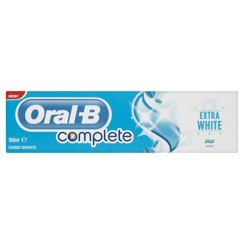 Oral-B Complete Extra White Toothpaste 100 ml (Pack of 4)