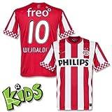 12-13 PSV Home Jersey + Wijnaldum 10 (Fan Style) - Boys