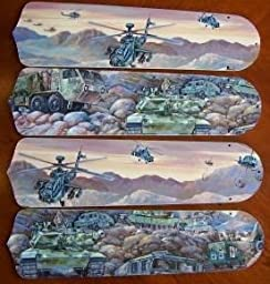 Ceiling Fan Designers 42SET-KIDS-ATMH Army Tanks Military Helicopter 42 in. Ceiling Fan Blades Only