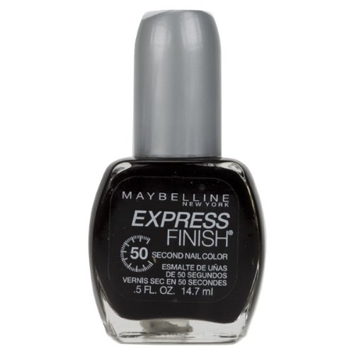 Maybelline New York Express Finish 50 Second Nail Color, Onyx Rush 895, 0.5 Fluid Ounce front-559527