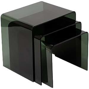 LexMod Casper Black Nesting Table (3 piece set)