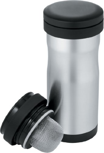 Thermos 12-Ounce Stainless-Steel Tea Tumbler with Infuser (Discontinued by Manufacturer) (Nissan Stainless Steel Travel Mug compare prices)