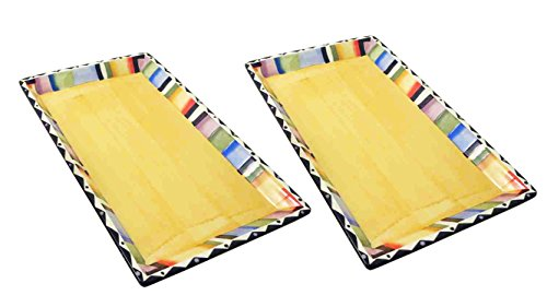 2 Piece Best Italian Design Ceramic Serving Trays Cooking Unique Last Minute Mothers Day Women Gifts