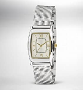 Rectangle Face Mesh Strap Watch