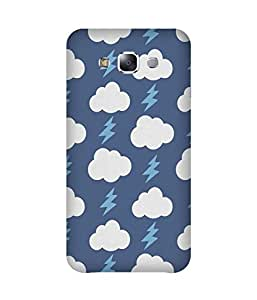 Blue Cloud Thunder Samsung Galaxy E7 Case