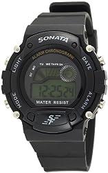 Sonata Digital Grey Dial Mens Watch - NG7982PP03J