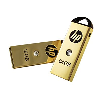 HP 8GB Gold Plated 223w USB Flash Drive