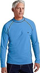 Coolibar UPF 50+ Men's Long-Sleeve Swim Shirt (X-Large - Surf Blue)
