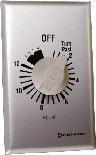 Intermatic Ff12Hhc 12-Hour Spring Loaded Wall Timer, Brushed Metal