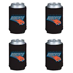 Buy NBA Charlotte Bobcats Can Koozie 4 pack by Kolder