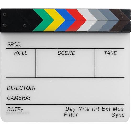 Acrylic Dry Erase Clapboard with Color Sticks