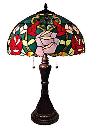 Amora Lighting AM083TL16 Tiffany Style Roses Table Lamp 24
