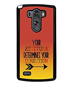 Fuson 2D Printed Quotes Designer back case cover for LG G3 - D4535