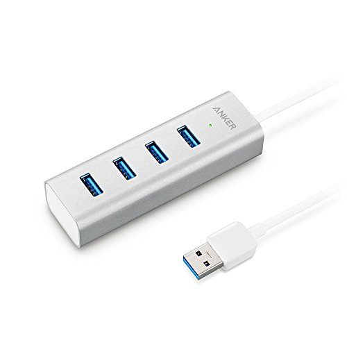 Anker USB 3.0 4ポート ポータブルアルミニウムユニボディハブ (40cm USBケーブル一体型)