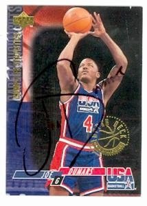 Joe Dumars Autographed Hand Signed basketball card (Detroit Pistons Team USA) 1994... by Hall of Fame Memorabilia