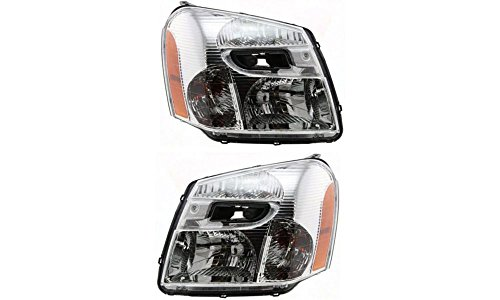 Evan-Fischer EVA13572058071 New Direct Fit Headlight Head Lamp Set of 2 Composite Clear Lens Halogen With Bulb(s) Driver and Passenger Side Replaces Partslink# GM2503254, GM2502254 (2005 Equinox Headlight Assembly compare prices)