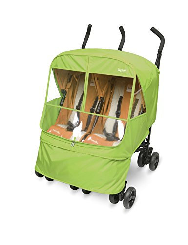 Manito Elegance Alpha Twin Stroller Weather Shield / Rain Cover (Green)
