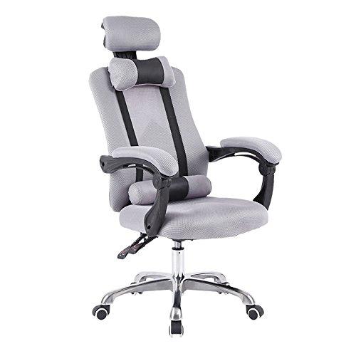 Sedia sedia computer Home Office Chair sedia girevole sedile,grigio, lega di alluminio in piedi