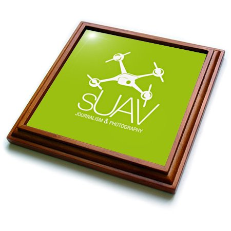 Trv_179940_1 Kike Calvo Drone And Unmanned Vehicle Collection - Suav Green Drone Of Journalist And Photographer - Trivets - 8X8 Trivet With 6X6 Ceramic Tile