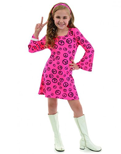 Peace Sign Mod Hippie Kids Costume