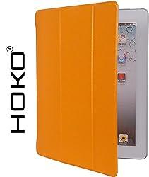 iPad 2 Case, Apple iPad 2 Case, [HOKO] [Sparkle Series] Slim Flip Cover Case For Apple iPad 2 (Orange) [Auto Wake sleep]