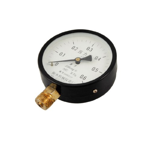 0-0.6 Mpa Round Scale Range Compressed Air Pressure Gauge front-977167